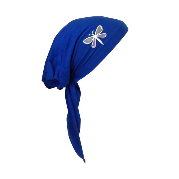 Pretied Chemo Cap with Dragonfly Applique