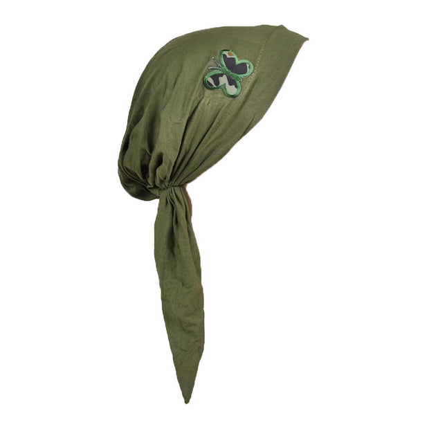 Pre Tied Headscarf for Ladies Chemo Scarf with Camo Butterfly