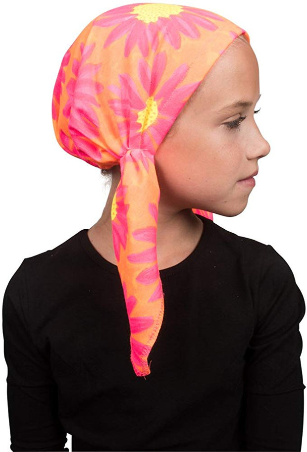 Pretied Cotton Chemo Cap for Girls