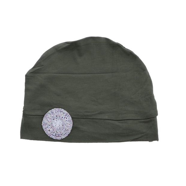 Sleep Cap / Wig Liner with Lavender Bling Applique