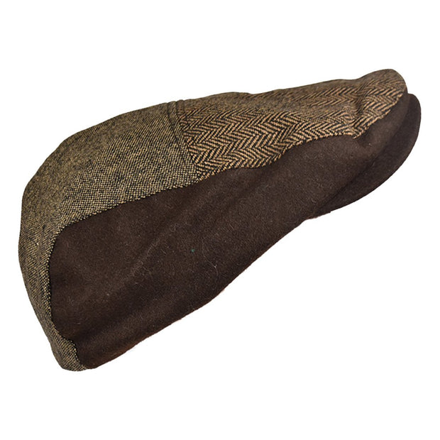Landana Headscarves Ivy Scally Cap Patchwork Tweed Driver Hat