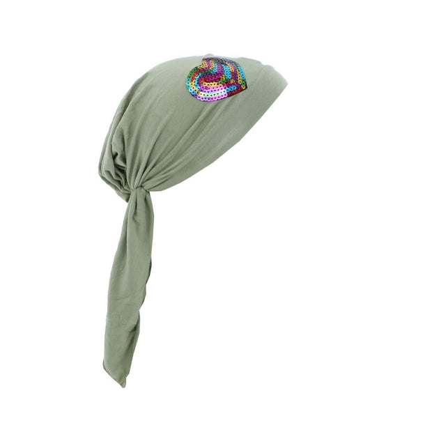 Colorful Sequin HeartChilds Pretied Headscarf