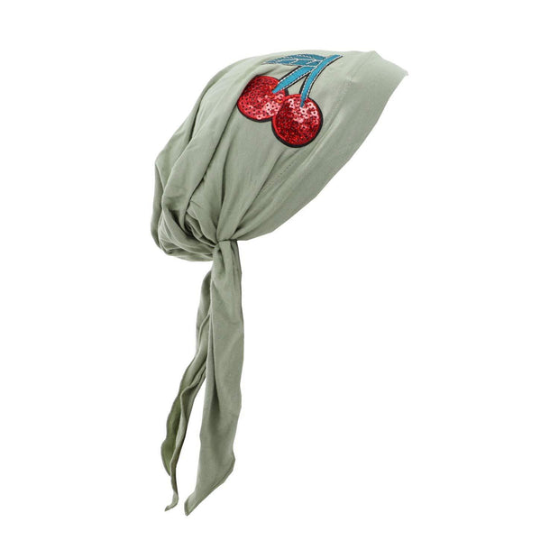 Landana Headscarves Pretied with Large Sequin Cherries