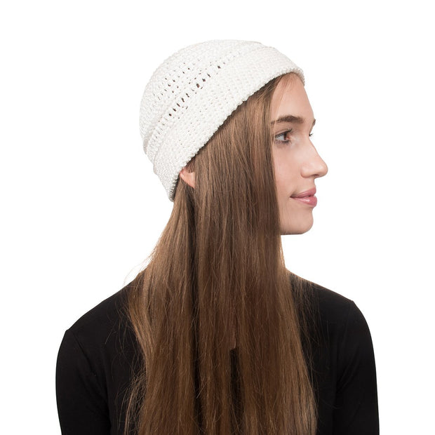 Landana Headscarves Woven Ladies Hat with Folded Rim