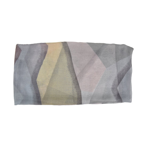 Tichel Watercolor Geometric Cancer Headscarf Head Wrap