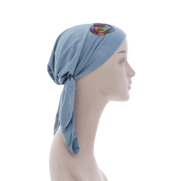 Sequin Hearts Pretied Chemo Cap for Girls