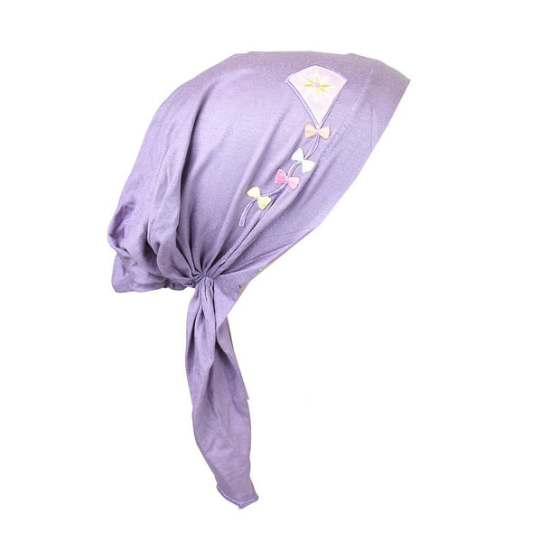 Kite Applique on Child's Pretied Head Scarf Cancer Cap
