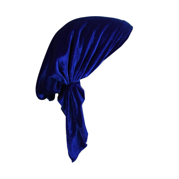 Velvet Pre Tied Chemo Cap for Women Soft Cancer Scarf