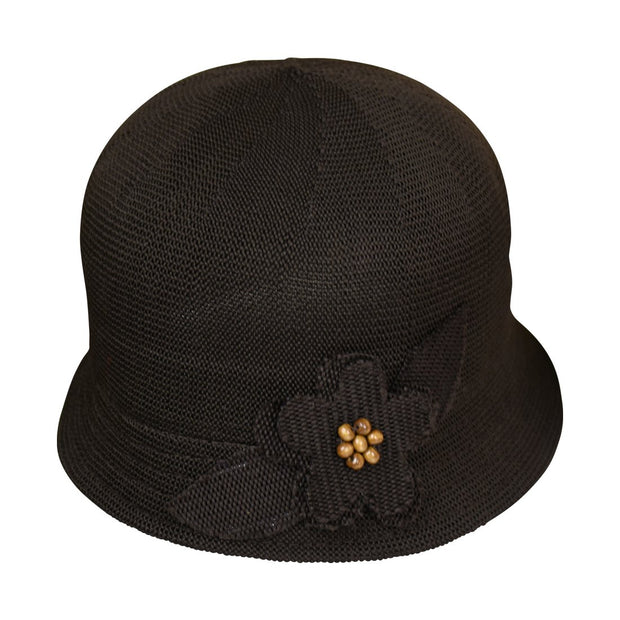 Landana Headscarves Brown Hat with Flower