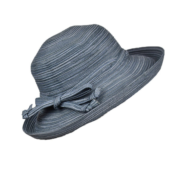Landana Headscarves Ladies Wide Brim Straw Hat with Tie Sunhat