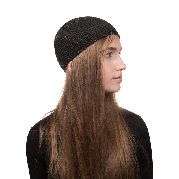 Solid Or Lurex Knit Ladies Beanie