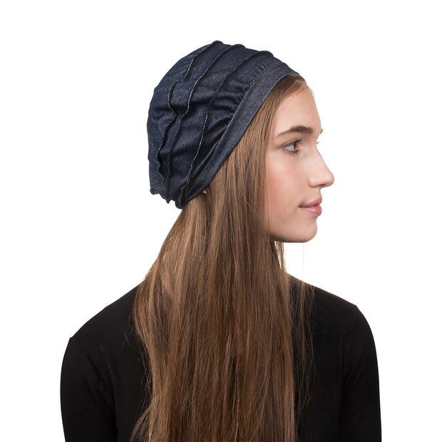 Tiered Denim Hat