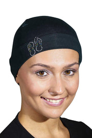 Landana Headscarves Womens Soft Sleep Cap Comfy Cancer Hat with Studded Flip-Flops Applique