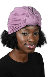 Landana Headscarves Solid Turban with Twist/Knot Front