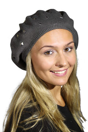 Landana Headscarves Beret with Silver Studs
