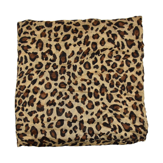 Headscarf Oblong Animal Print Chemo Tichel
