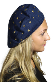Beret / Snood with Gold Studs