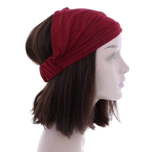 "11"" Wide Solid Color Cotton Headwrap"