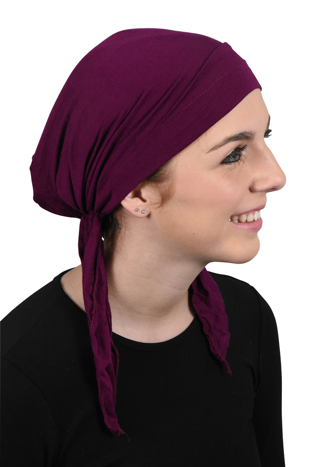 Womens Pre Tied Bandana Chemo Cap Soft Cancer Scarf Hair Cover
