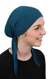 Lightweight Pretied Chemo Cap with Long Ties