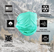 Mint Cotton Neck Gaiter