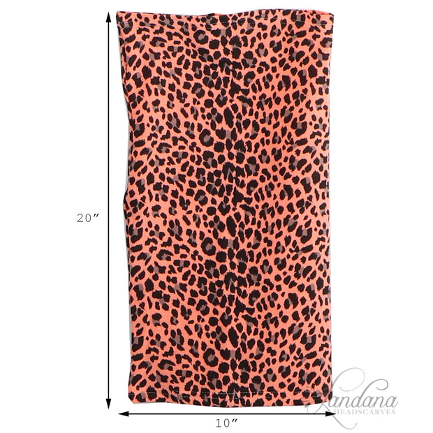 Cotton Stretch Neck Gaiters Multi Use Scarf Pink Cheetah Pattern