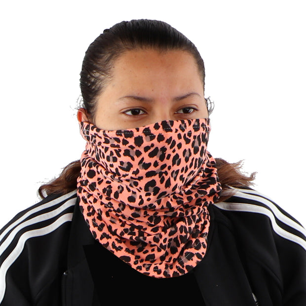 2 Ply Face Mask MADE IN USA Cotton Pattern Washable Masks and Neck Gaiter Matching Set (Pink Cheetah)