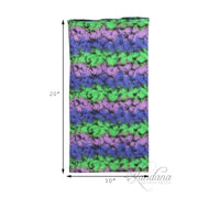 Cotton Stretch Neck Gaiters Multi Use Scarf Purple, Green With Black Speckles