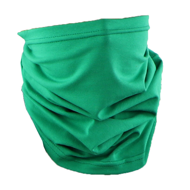 Cotton Stretch Neck Gaiters Multi Use Scarf (Solid Green)