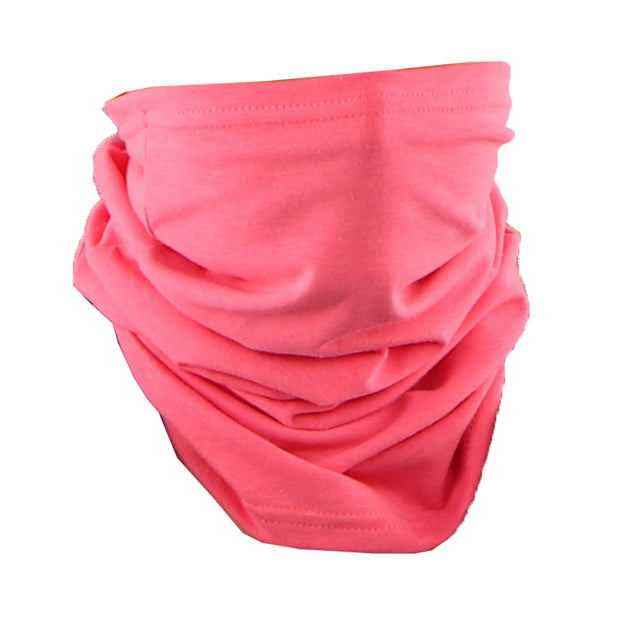 Cotton Stretch Neck Gaiters Multi Use Scarf (Solid Pink)