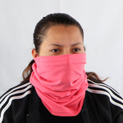 2 Ply Face Mask MADE IN USA Cotton Pink Washable Masks and Neck Gaiter Matching Set
