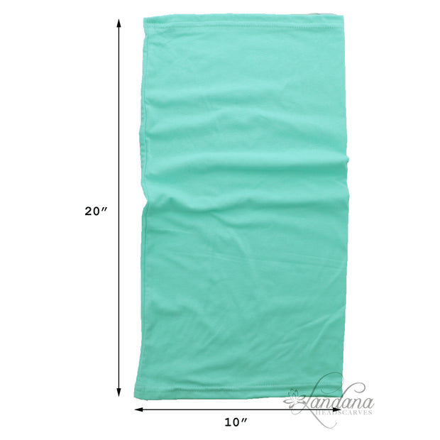 Cotton Stretchy Neck Gaiter Multi Use Scarf (Mint)