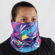 2 Ply Face Mask MADE IN USA Cotton Pattern Washable Masks and Neck Gaiter Matching Set (Multicolored)
