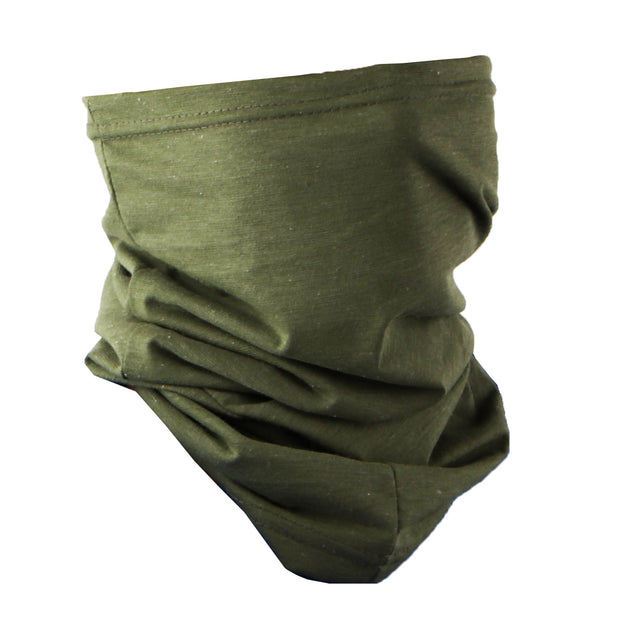 Cotton Stretchy Neck Gaiter Multi Use Scarf (Olive)