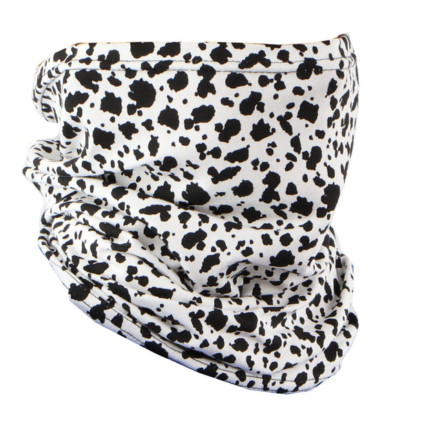 Cotton Stretchy Neck Gaiter Multi Use Scarf (Dalmatian)