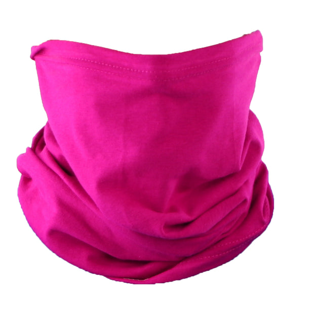 Raspberry Cotton Neck Gaiter