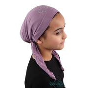 Princess Applique on Child's Pretied Head Scarf Cancer Cap