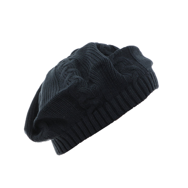 Cable Knit Beret / Snood