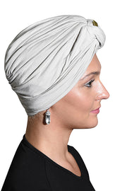 Landana Headscarves Turbans for Women with Twist/Knot Front and Gold Stud