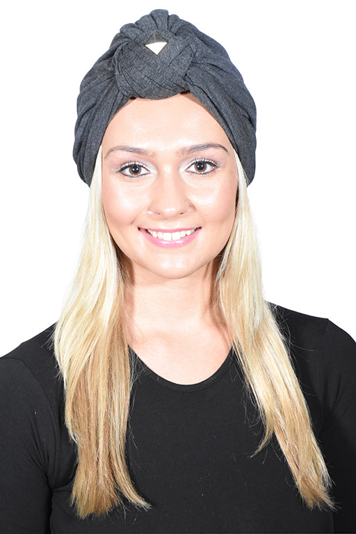 Knot Turban with Silver Stud