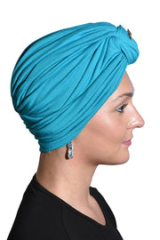 Landana Headscarves Turbans for Women with Twist/Knot Front and Silver Stud