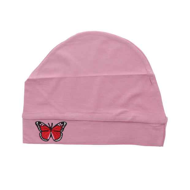 Landana Headscarves Womens Soft Chemo Cap and Sleep Turban with Red Butterfly