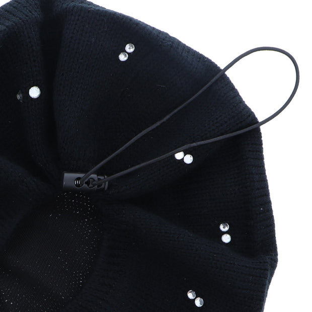 Beret / Snood with Clear Crystal Studs