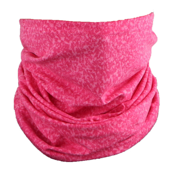 Cotton Stretch Neck Gaiters Multi Use Scarf (Hot Pink Marble)