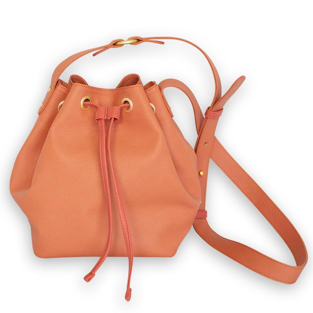 nuuwaï crushed apricot nuuwaï - Vegan Bucket Bag - KARI