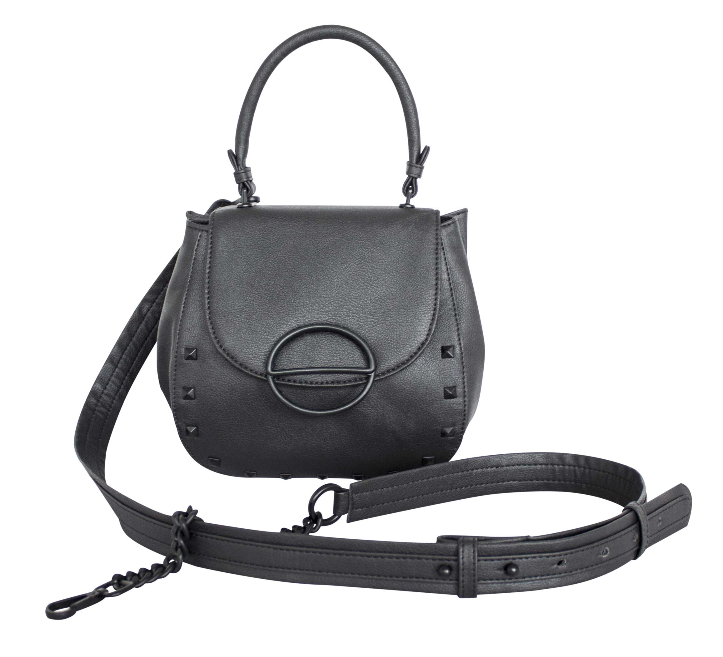nuuwaï night black nuuwaï - Vegan Crossbody Bag - LICA RIVETS