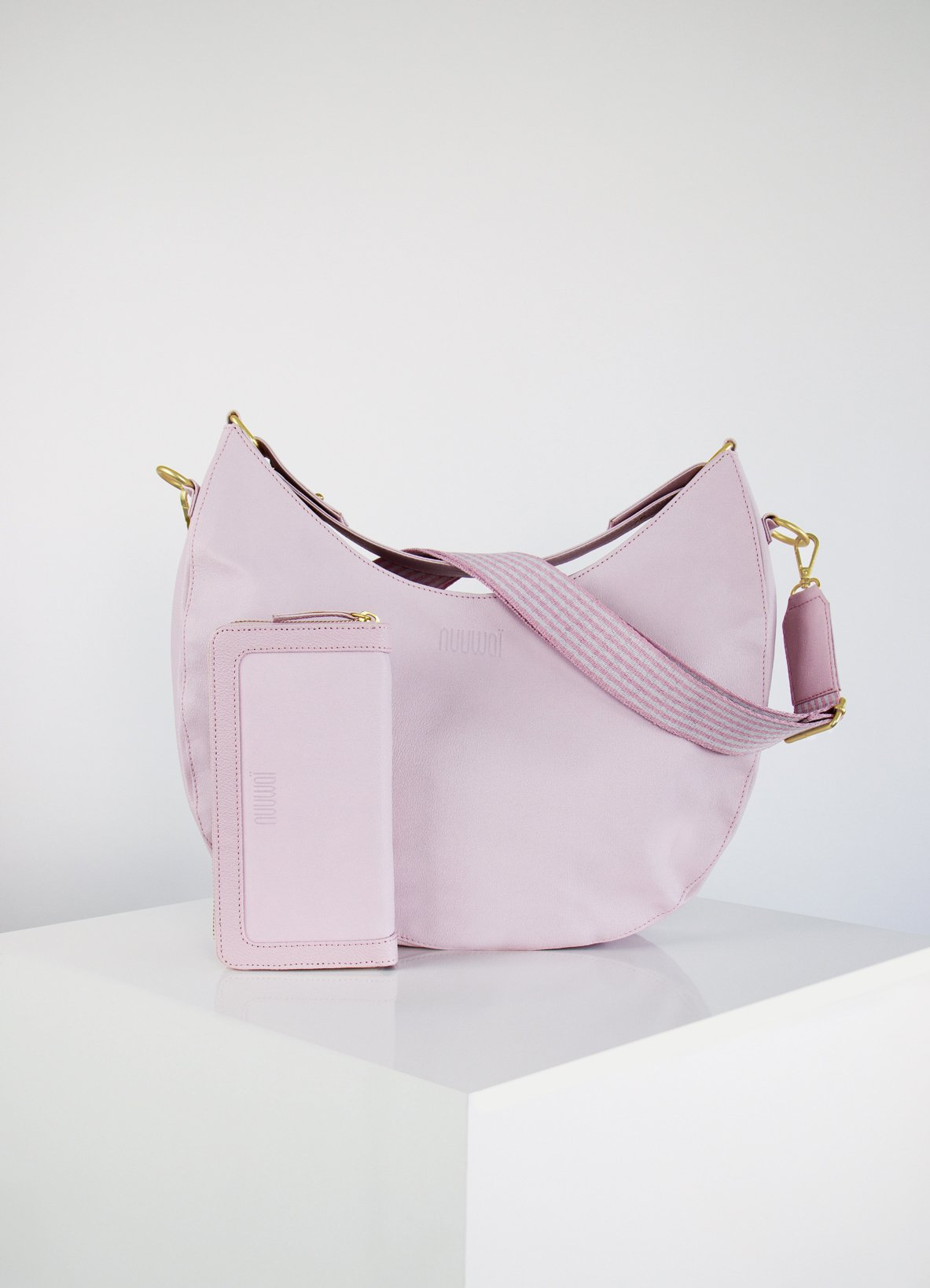 nuuwaï pale blush nuuwaï - Vegan Hobo Bag + Wallet - FRIDA + MADITA Bundle