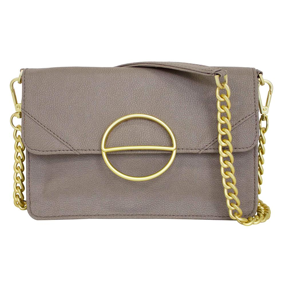 nuuwaï soft taupe nuuwaï - Vegan Clutch Bag - MILA
