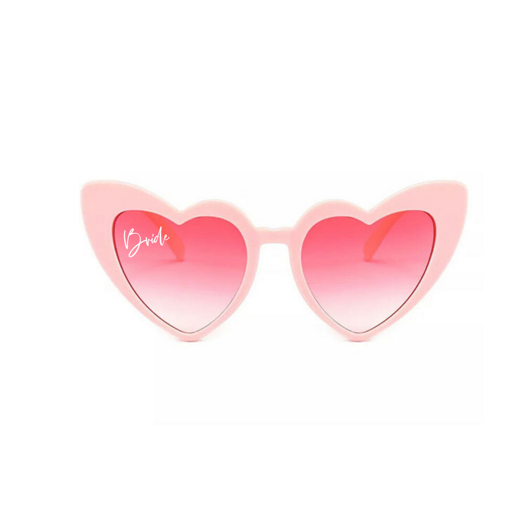 Bride Heart Shaped Sunglasses