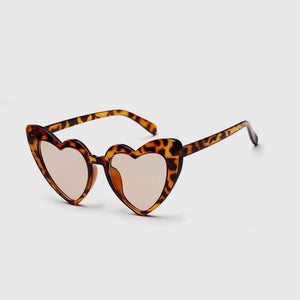 Leopard Heart Shaped Sunglasses